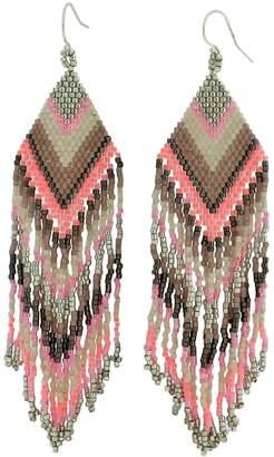 LeJu London Beaded Chandelier Earrings In Pink