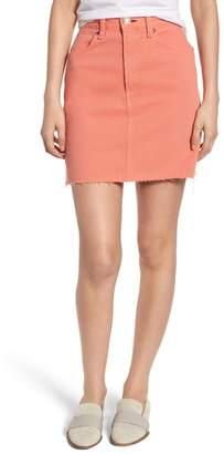 Rag & Bone Moss High Waist Denim Miniskirt