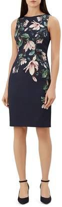 Hobbs London Moira Floral-Print Sheath Dress