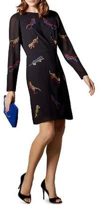 Karen Millen Tiger Embroidered Dress