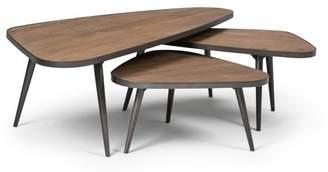 Simpli Home Aubrey 3 Pc Nesting Coffee Table Set