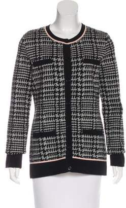 Karl Lagerfeld by Patterned Knit Cardigan w/ Tags