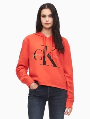 Calvin Klein monogram logo color pop hoodie