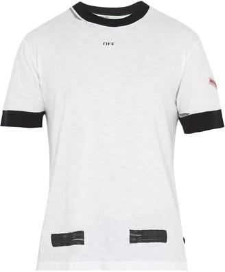 OFF-WHITE Contrast-trim cotton T-shirt $269 thestylecure.com