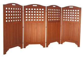 """DVG 48"""" Outdoor Acacia Wood Privacy Screen with 4 Panels"""