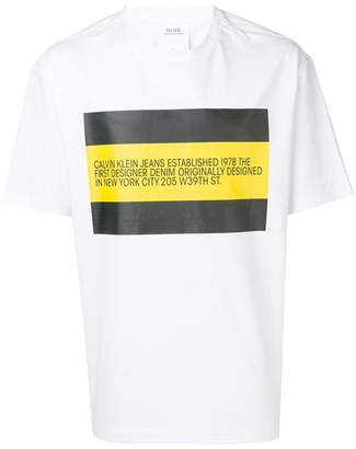 Calvin Klein Jeans Est. 1978 colourblock logo T-shirt