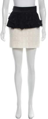 Ungaro Embroidered Mini Skirt w/ Tags