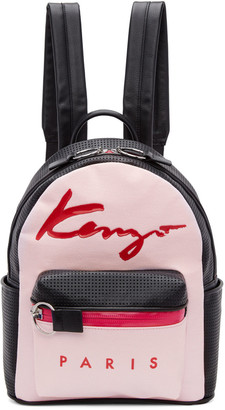 Kenzo Pink Logo Essentials Backpack $440 thestylecure.com