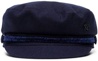 Maison Michel navy blue Abby wool hat