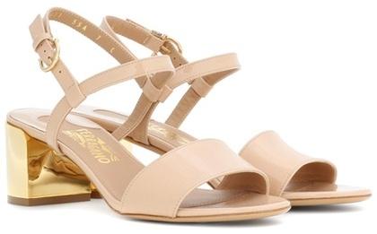 Salvatore Ferragamo Elita 55 patent leather sandals
