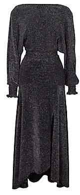 Maje Women's Rio Metallic Knit Midi Dress