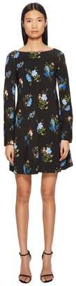 Sportmax Nettare Floral Long Sleeve Dress Women's Dress