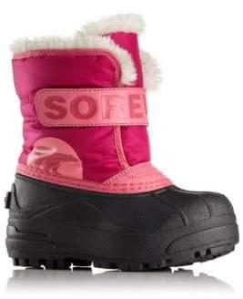 Sorel Baby's, Toddler's & Girl's Snow Commander Faux Fur-Trim Snow Boots