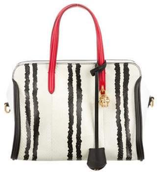 Alexander McQueen Python Skull Padlock Zip Around Bag Black Python Skull Padlock Zip Around Bag