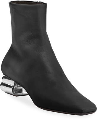 Balenciaga Typo Shiny Leather Booties
