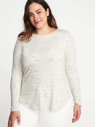 Old Navy Relaxed Heathered Luxe Plus-Size Top