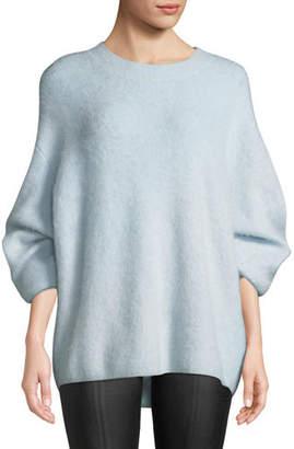 Vince Oversized Funnel-Neck Pullover Sweatshirt