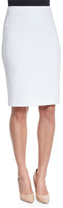 Armani Collezioni Ribbed Jersey Knit Pencil Skirt, Off White $445 thestylecure.com
