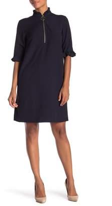 Sharagano Ruffle Collar Shift Dress