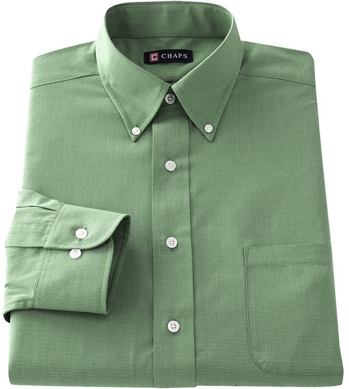 chaps classic fit solid broadcloth button down collar