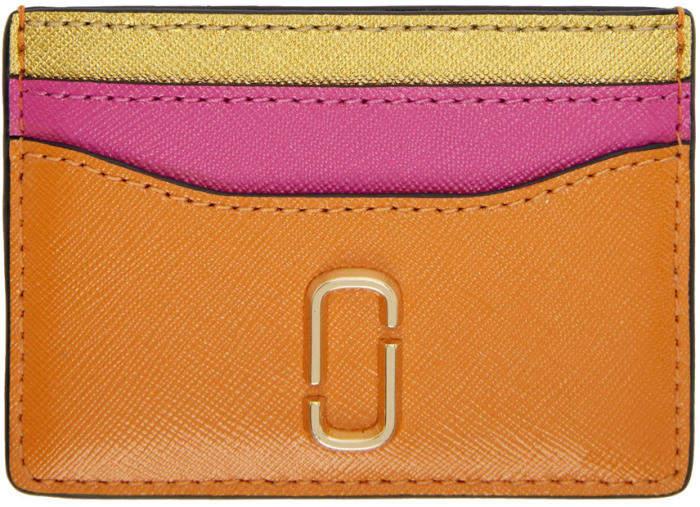 Marc Jacobs Orange Snapshot Card Holder