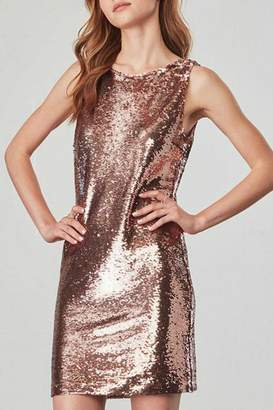 BB Dakota Rose Gold Sequin Dress
