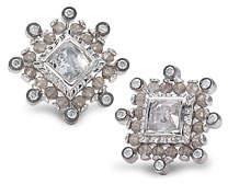 Coomi Affinity Smoky Quartz & Diamond Stud Earrings
