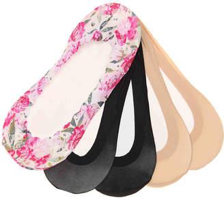 Me Moi MeMoi Lace Floral No Show Liners - 3 Pack - Women's