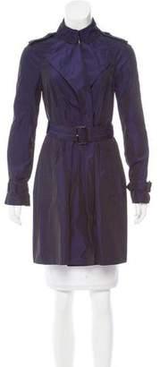 Burberry Open Front Trench Coat
