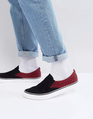 Brave Soul Checker Slip On Sneakers