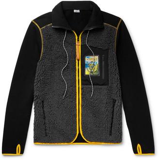 Loewe Eye nature Slim-Fit Logo-Appliqued Fleece And Cotton-Jersey Jacket
