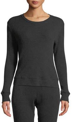 Enza Costa Cashmere Long-Sleeve Thermal Sweatshirt
