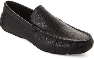 Calvin Klein Black Kaleb Leather Driving Loafers