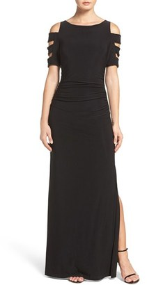 Women's Laundry By Shelli Segal Embellished Sleeve Jersey Gown $295 thestylecure.com