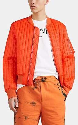 Helmut Lang Men's Quilted Ripstop Bomber Jacket - Orange