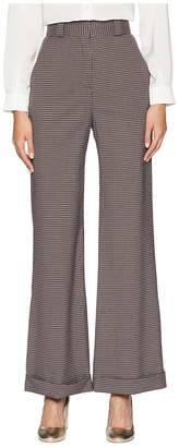 See by Chloe Plaid Wide Leg Trousers Women's Casual Pants