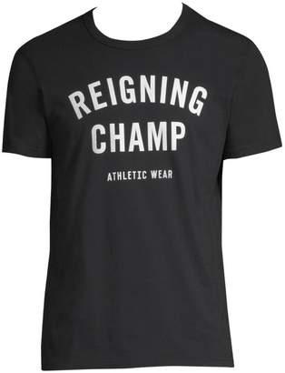 Reigning Champ Cotton Logo Tee