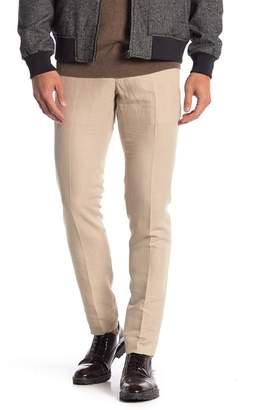 DAVID NAMAN Solid Suit Pants