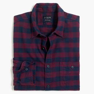 J.Crew Buffalo-check tall flannel workshirt