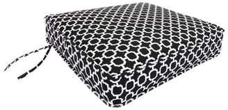 Jordan Manufacturing Outdoor Deep Seat Cushion - Black/White Geometric
