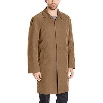 London Fog Men's Durham Single Breasted Rain Coat with Zip-Out Liner