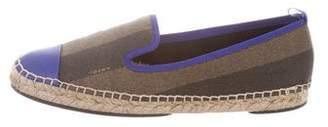 Fendi Leather Round-Toe Espadrilles