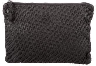 Zadig & Voltaire Woven Leather Clutch