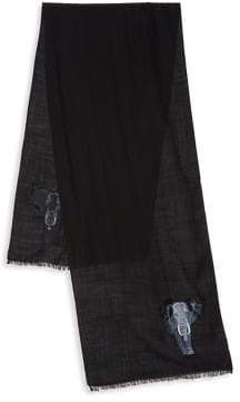Paul Smith Lion Embroidery Scarf