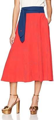Mulberry Dear Drew by Drew Barrymore Women's St Tie Front Skirt