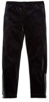 Design History Girls' Velvet Leggings with Zipper Details - Little Kid