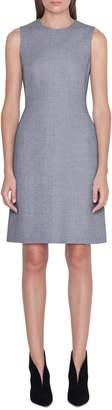 Akris Linen & Wool Seamed Sheath Dress
