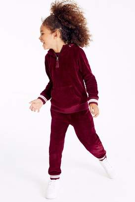 Next Girls Berry Velour Joggers (3-16yrs) - Purple
