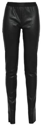 Ann Demeulemeester Stretch-Leather Leggings