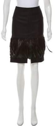 Dolce & Gabbana Wool Feather Skirt